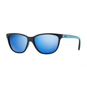 Nero opaco/Blu scuro specchiato blu (W44/55)